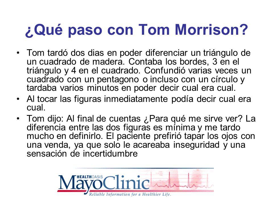 ¿Qué paso con Tom Morrison