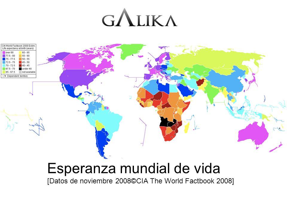 Esperanza mundial de vida