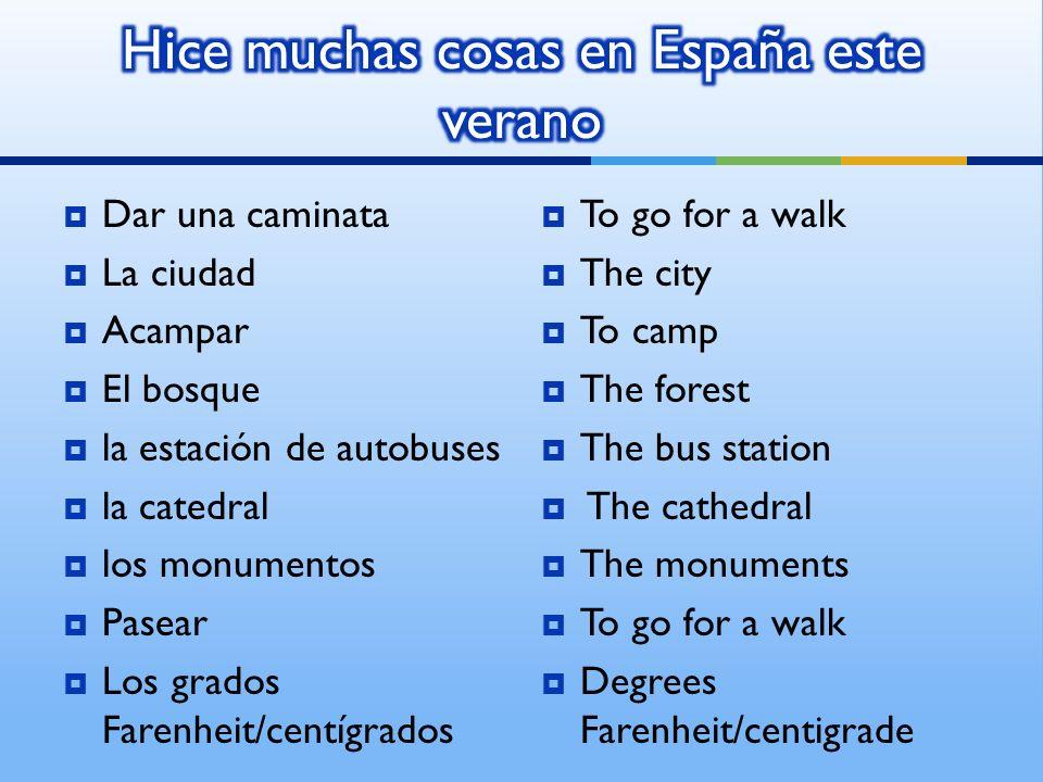 Hice muchas cosas en España este verano
