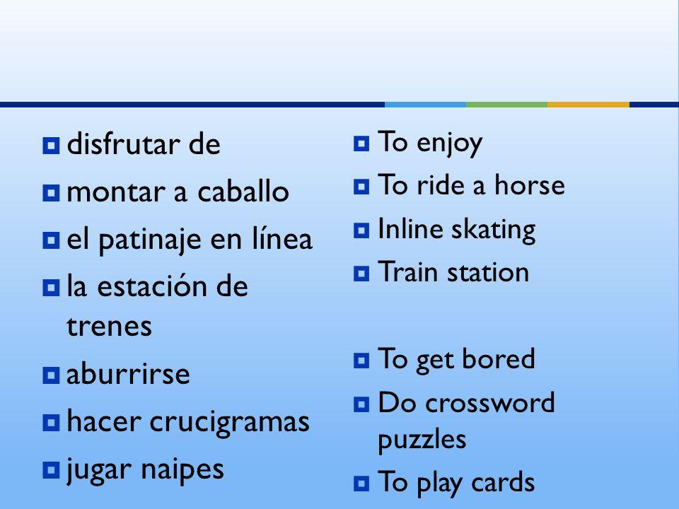 disfrutar de montar a caballo el patinaje en línea