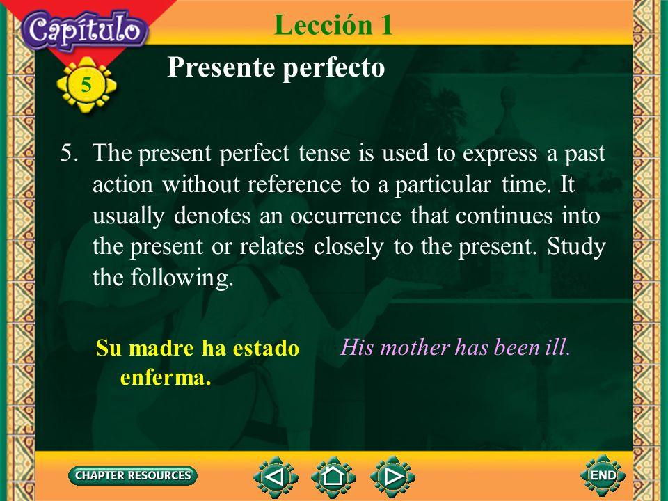 Lección 1 Presente perfecto
