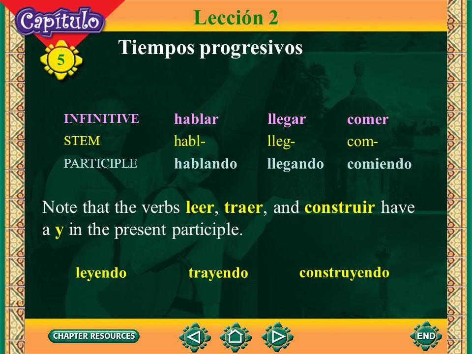 Lección 2 Tiempos progresivos