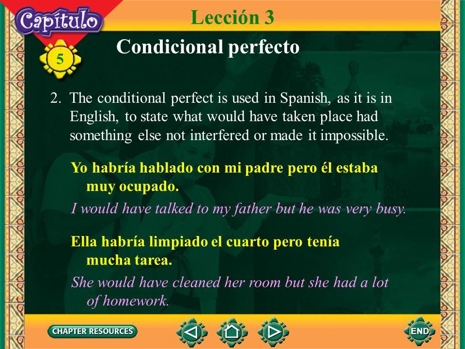 Lección 3 Condicional perfecto
