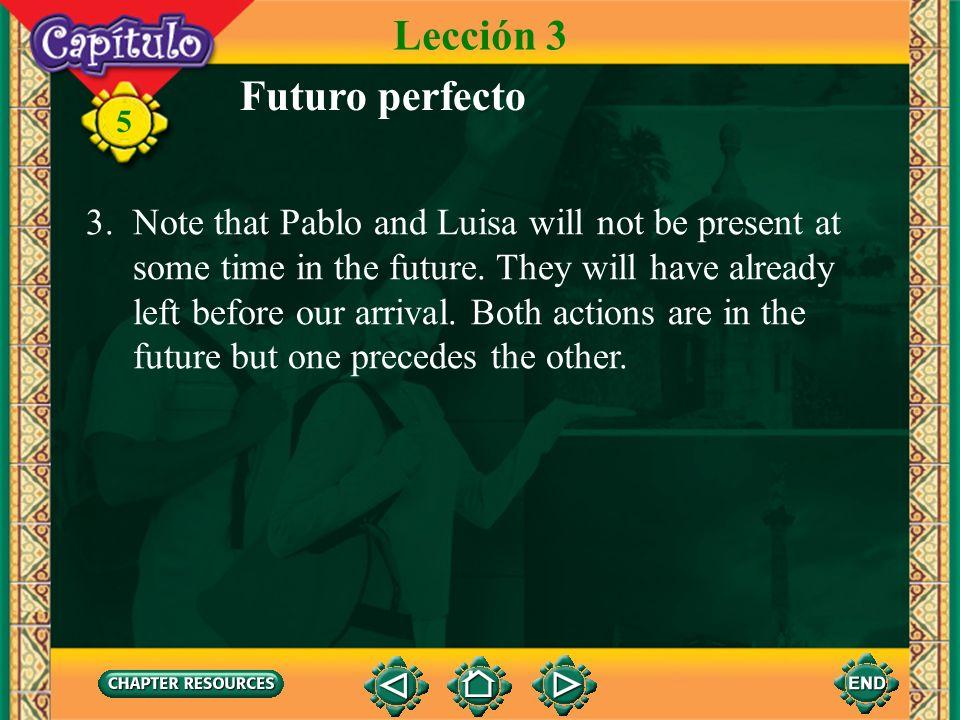 Lección 3 Futuro perfecto