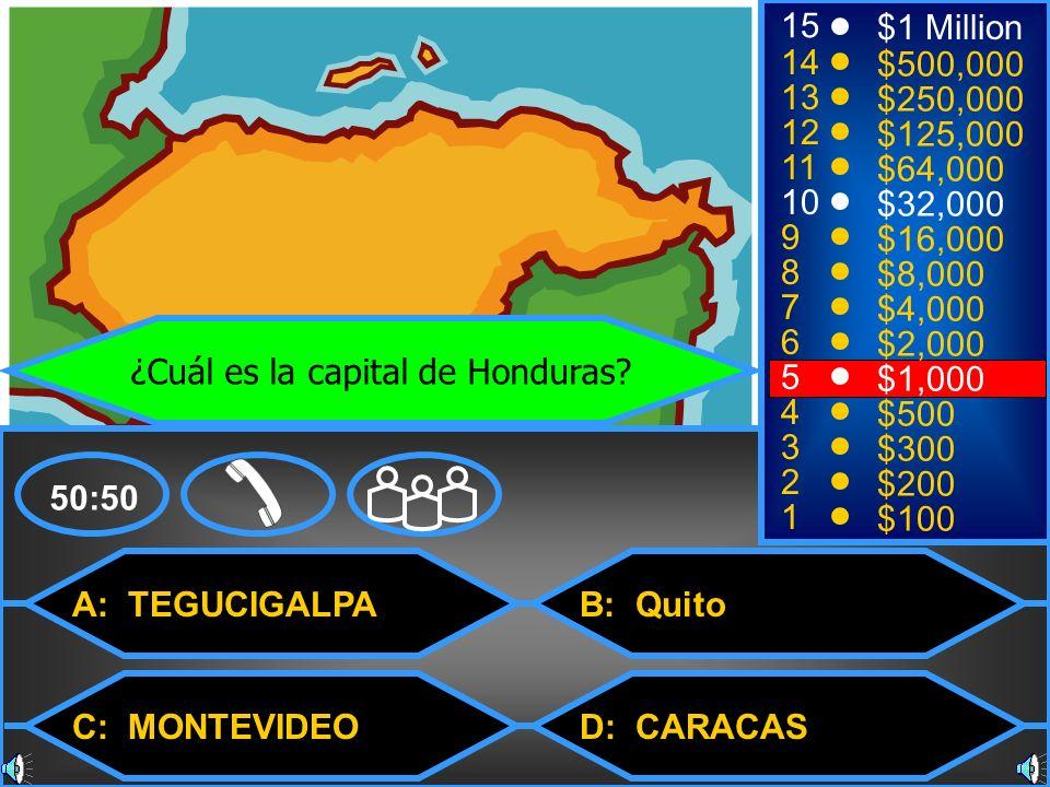 ¿Cuál es la capital de Honduras