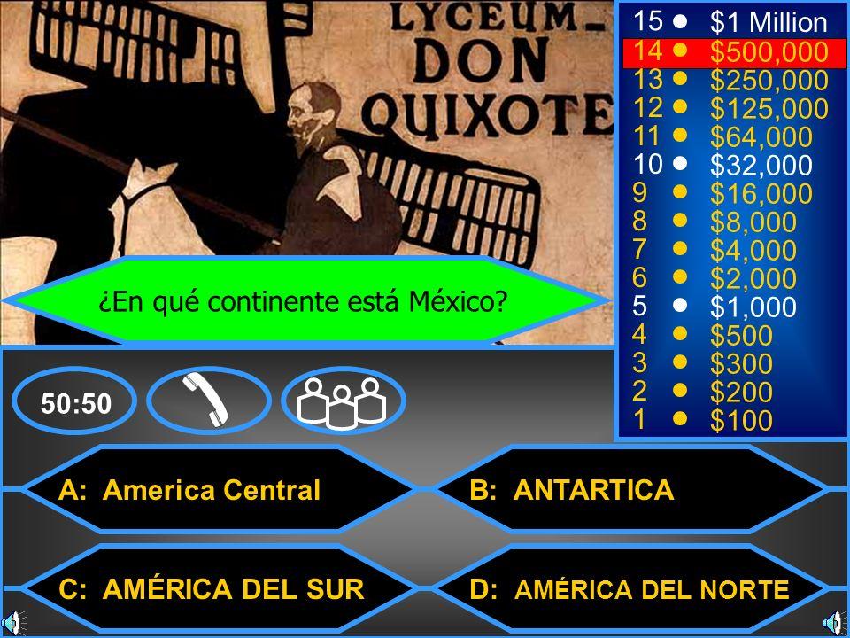 ¿En qué continente está México