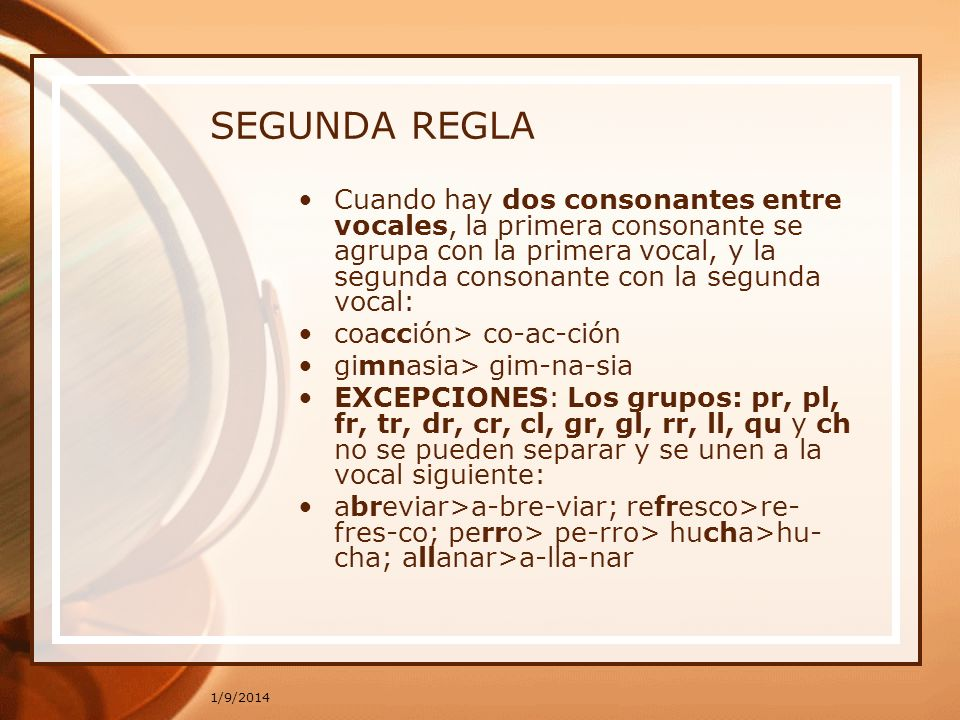 SEGUNDA REGLA