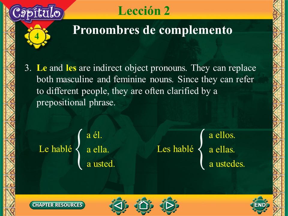 Pronombres de complemento