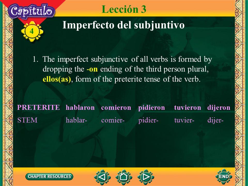 Imperfecto del subjuntivo