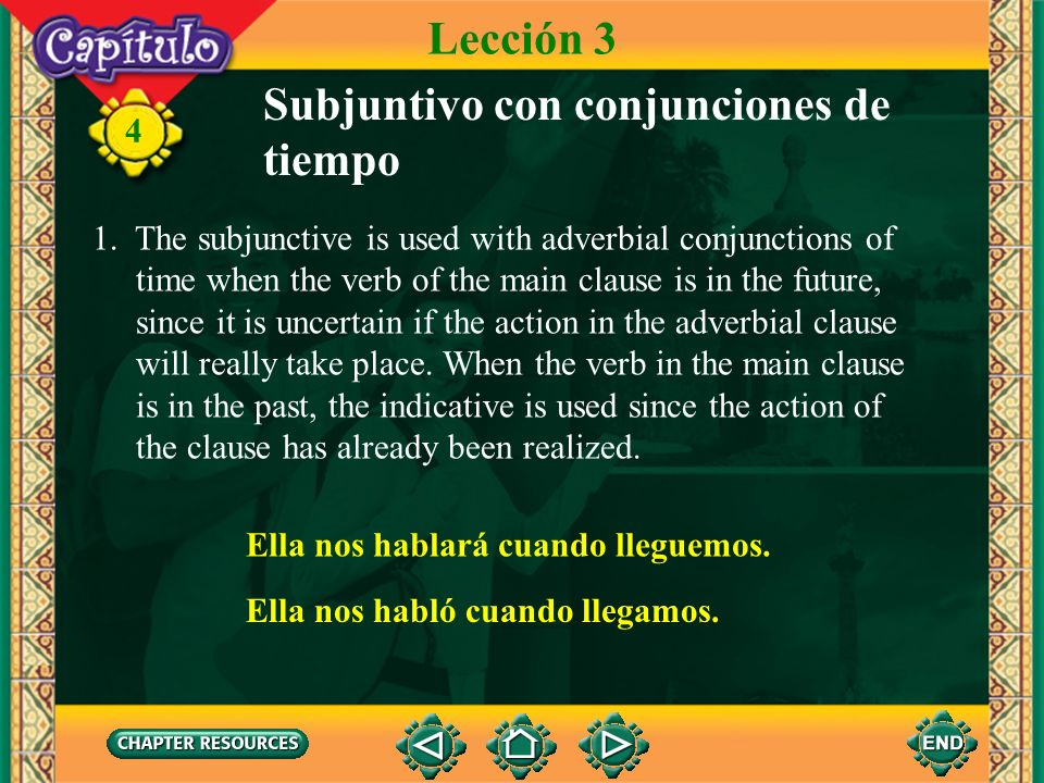 Subjuntivo con conjunciones de tiempo