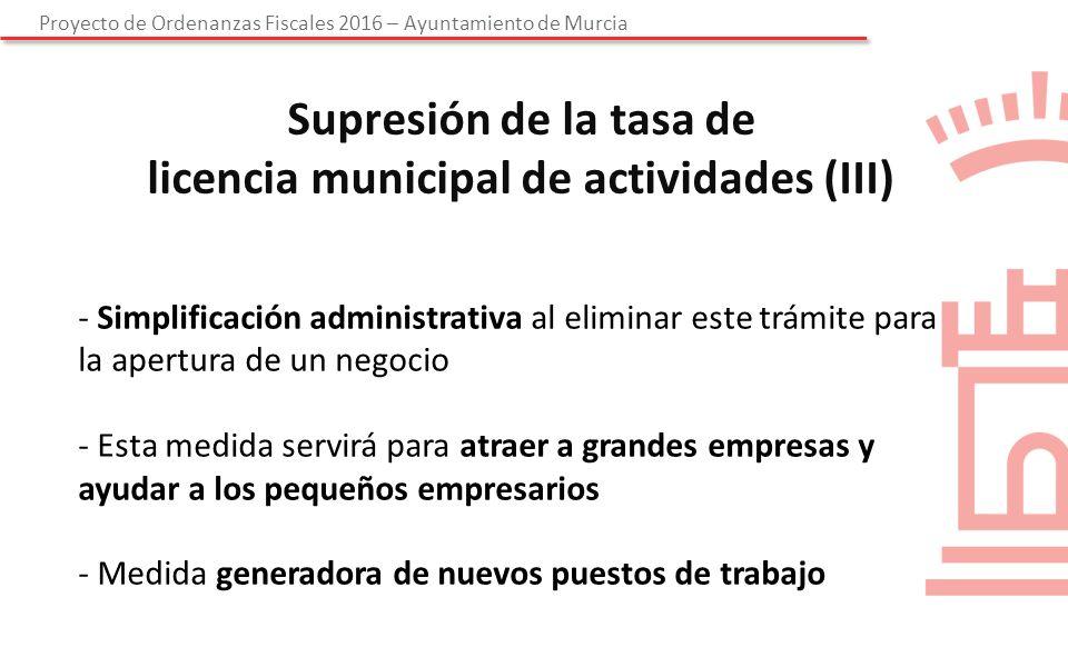 Proyecto de ordenanzas fiscales ppt descargar for Diferencia entre licencia de apertura y licencia de actividad