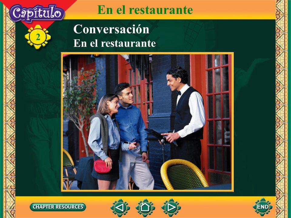 En el restaurante Conversación En el restaurante