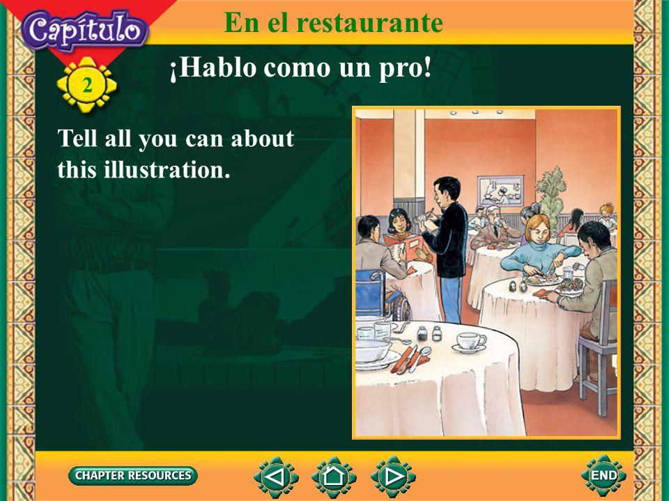 En el restaurante ¡Hablo como un pro!