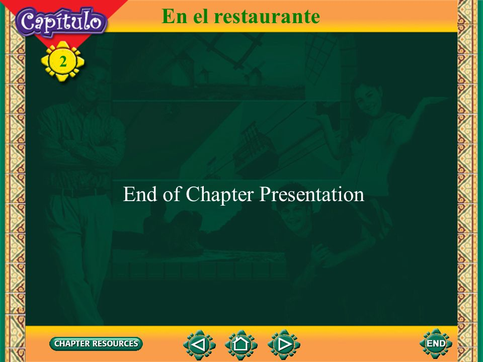 En el restaurante End of Chapter Presentation