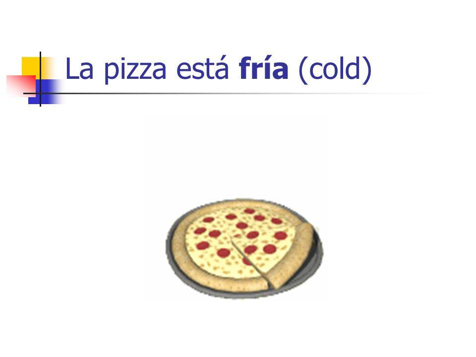 La pizza está fría (cold)