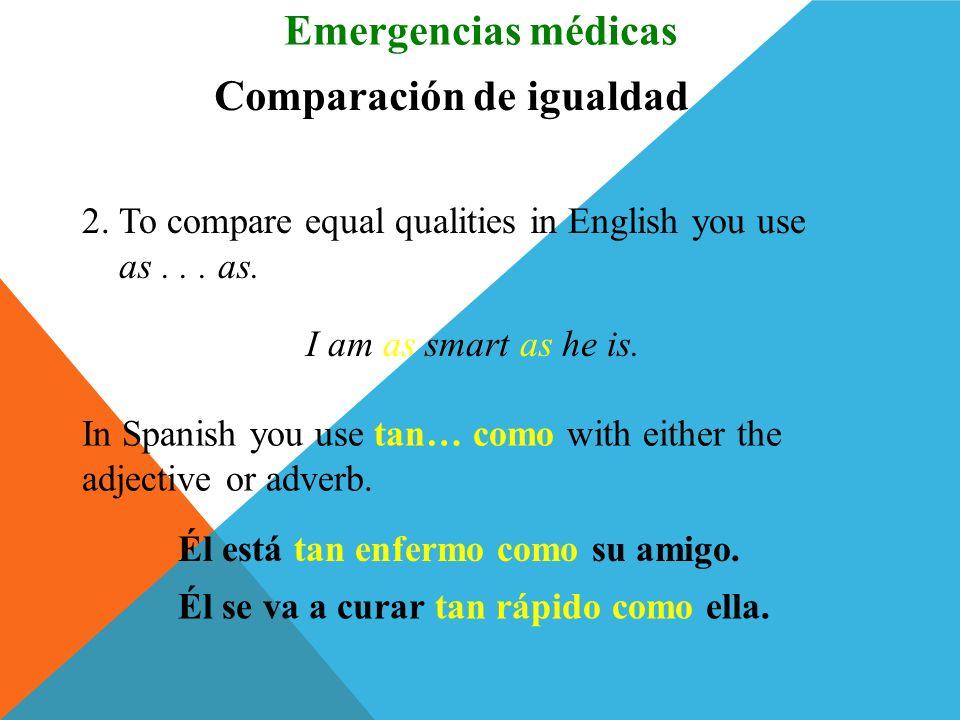 Comparación de igualdad