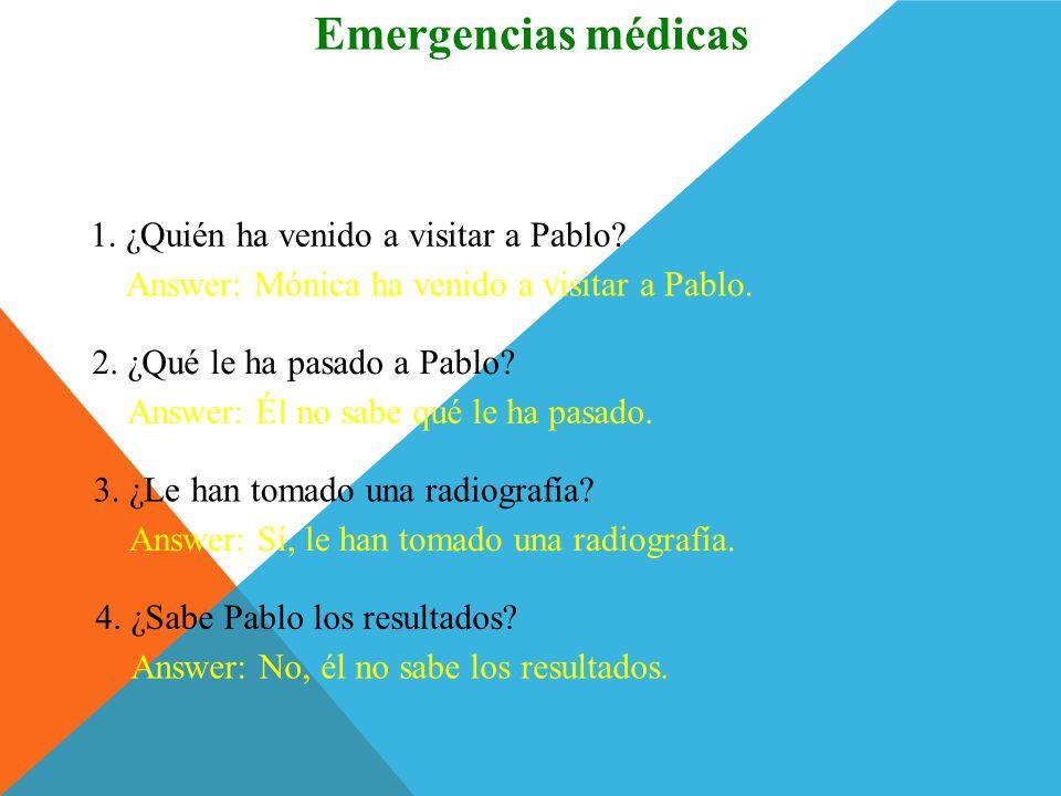 Emergencias médicas ¿Comprendes