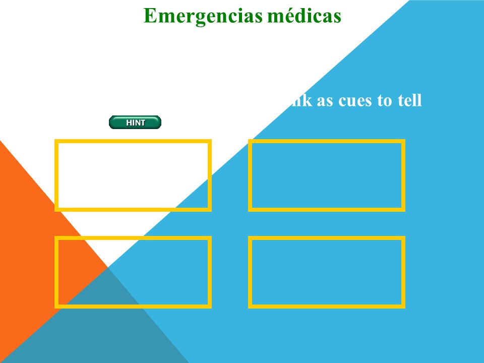 Emergencias médicas Picture Sequence
