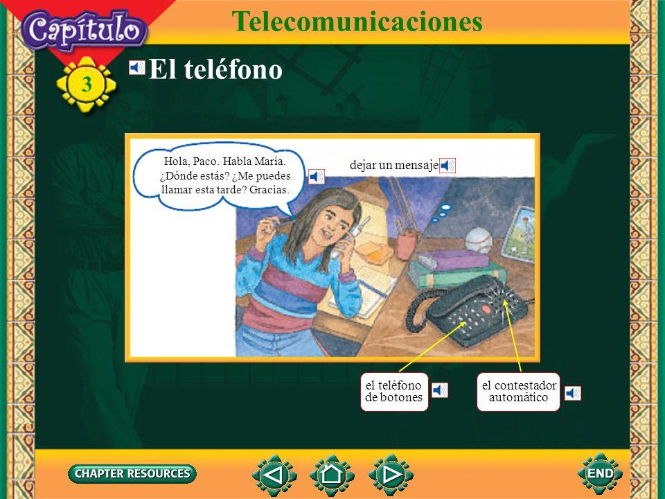 Telecomunicaciones El teléfono dejar un mensaje el teléfono de botones