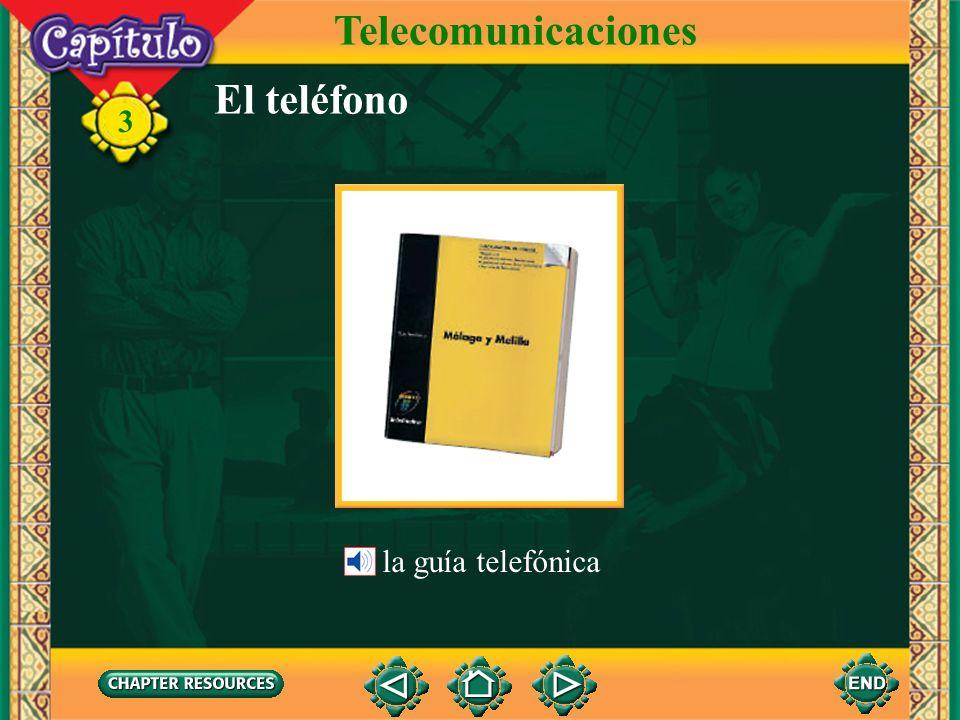Telecomunicaciones El teléfono la guía telefónica