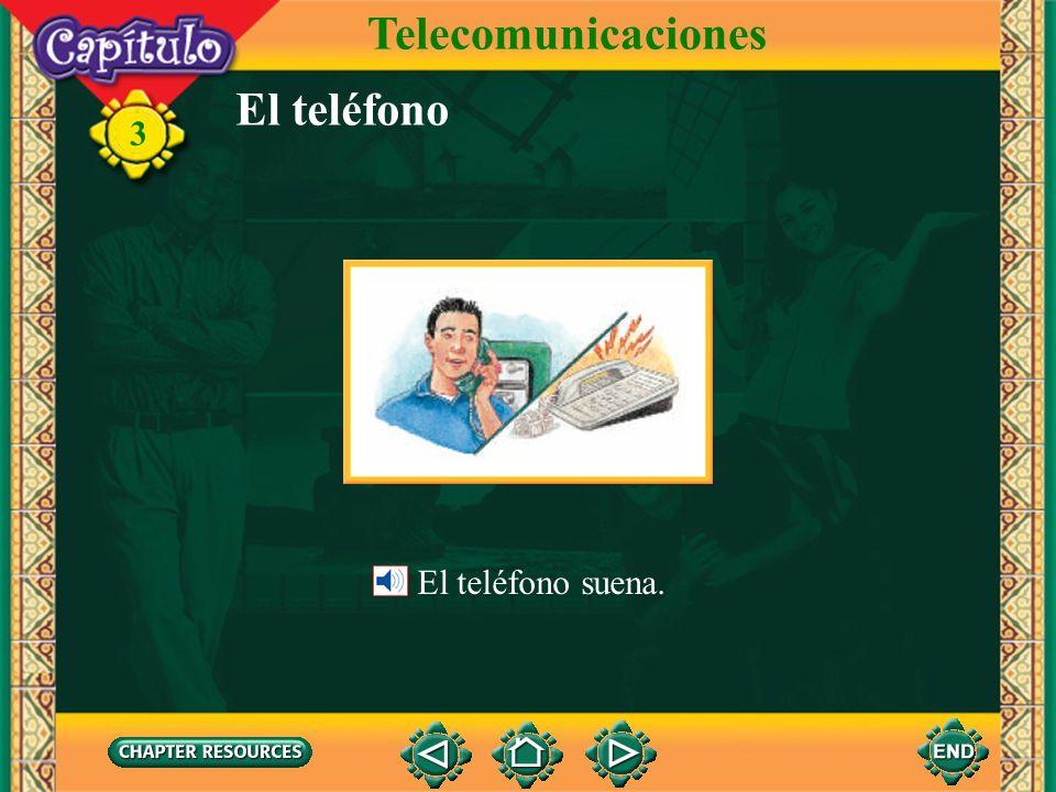 Telecomunicaciones El teléfono El teléfono suena.