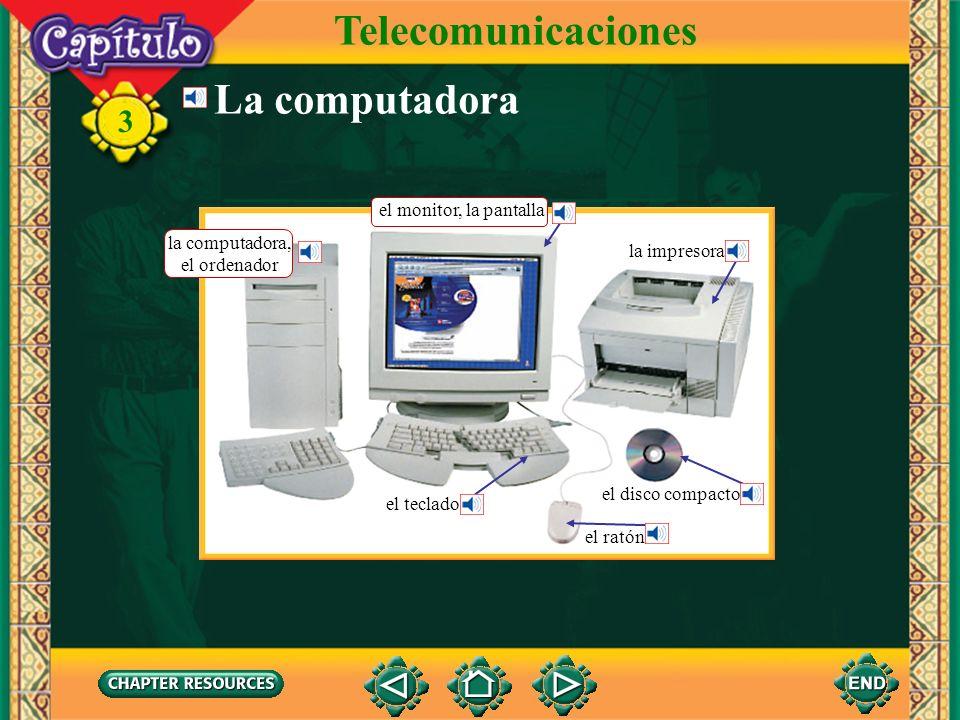 Telecomunicaciones La computadora el monitor, la pantalla