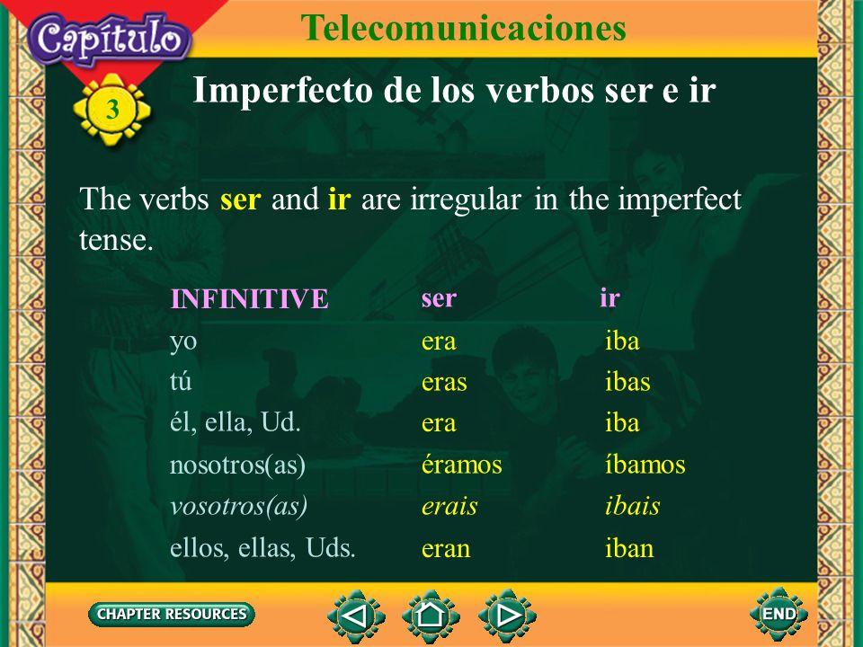 Imperfecto de los verbos ser e ir