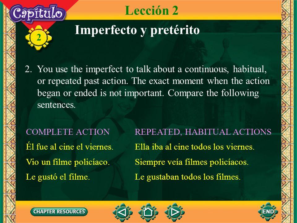 Imperfecto y pretérito