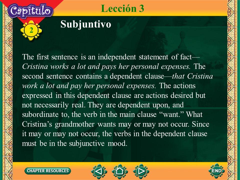 Lección 3Subjuntivo.