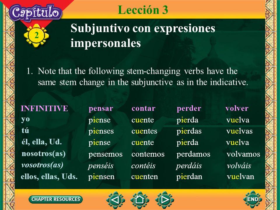 Subjuntivo con expresiones impersonales