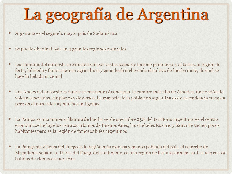 La geografía de Argentina