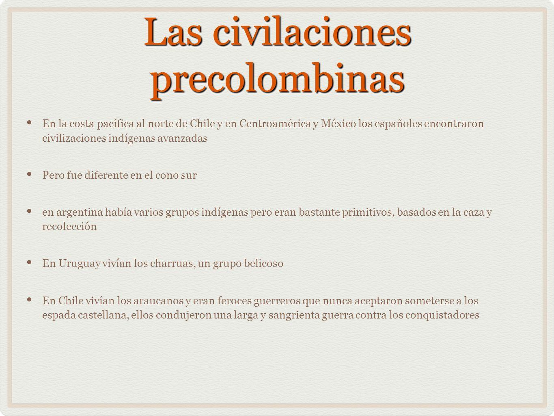 Las civilaciones precolombinas
