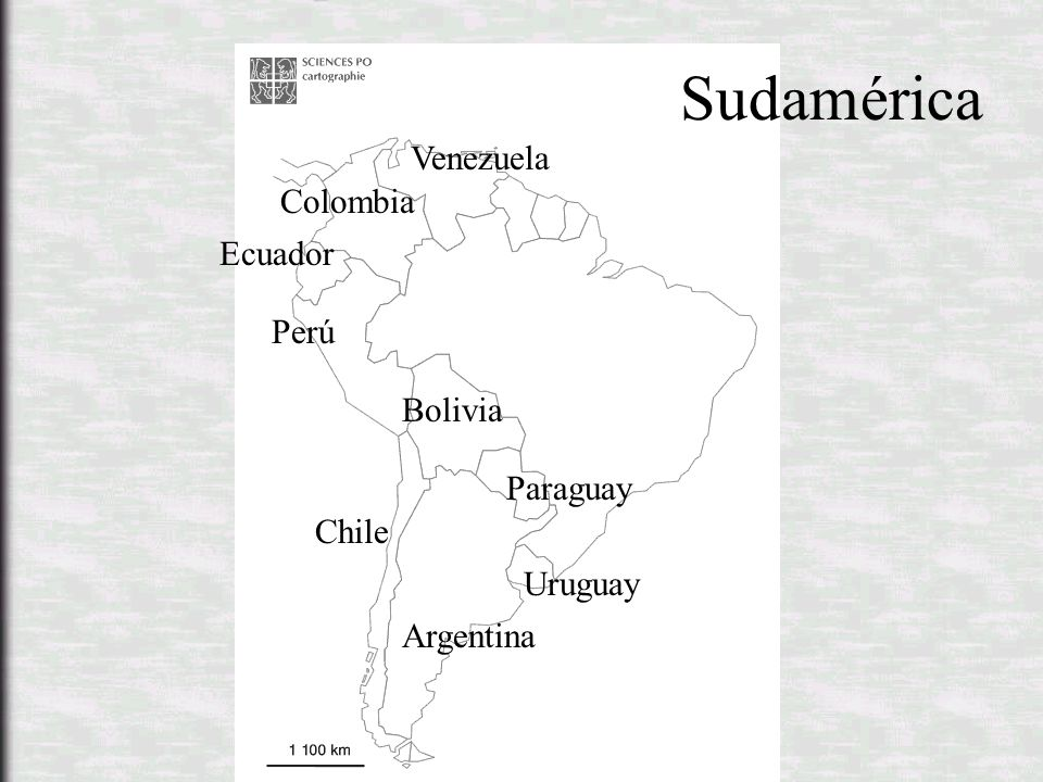 Sudamérica Venezuela Colombia Ecuador Perú Bolivia Paraguay Chile