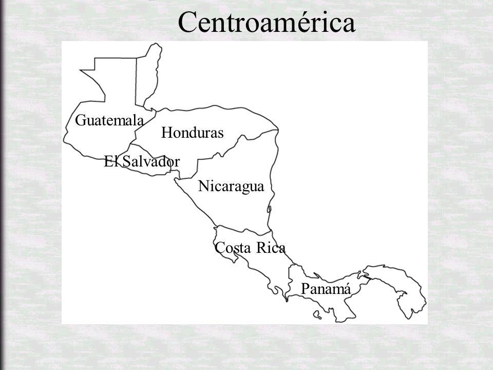 Centroamérica Guatemala Honduras El Salvador Nicaragua Costa Rica