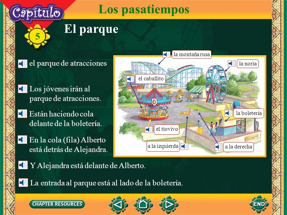 Los pasatiempos El parque el parque de atracciones