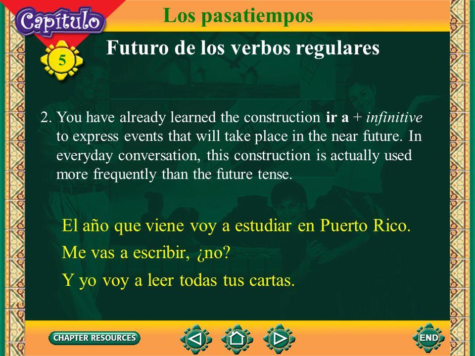 Futuro de los verbos regulares