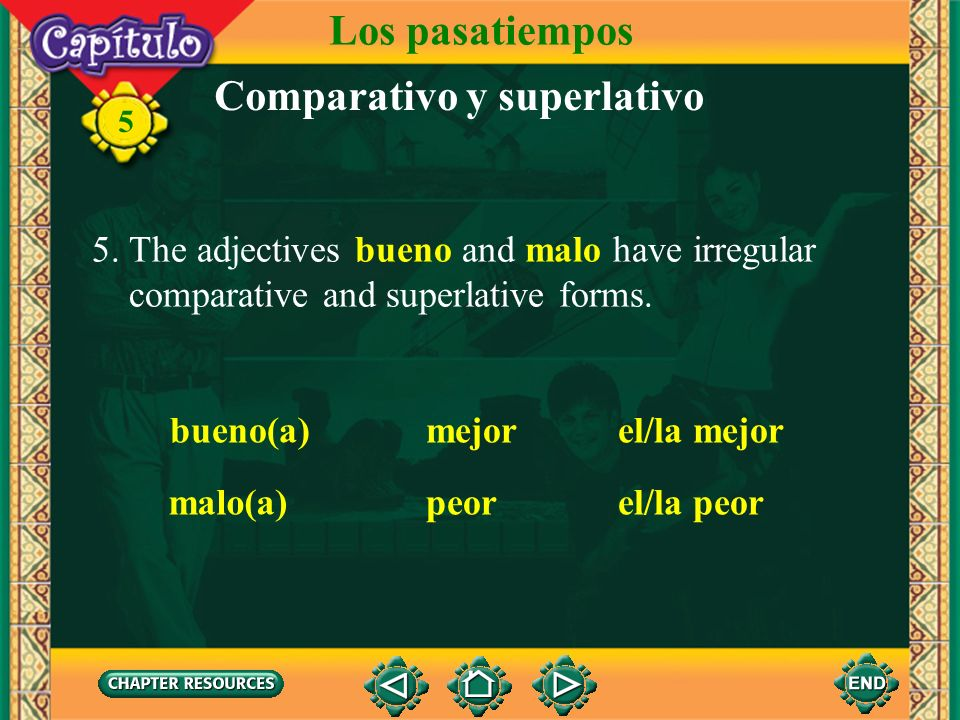 Comparativo y superlativo
