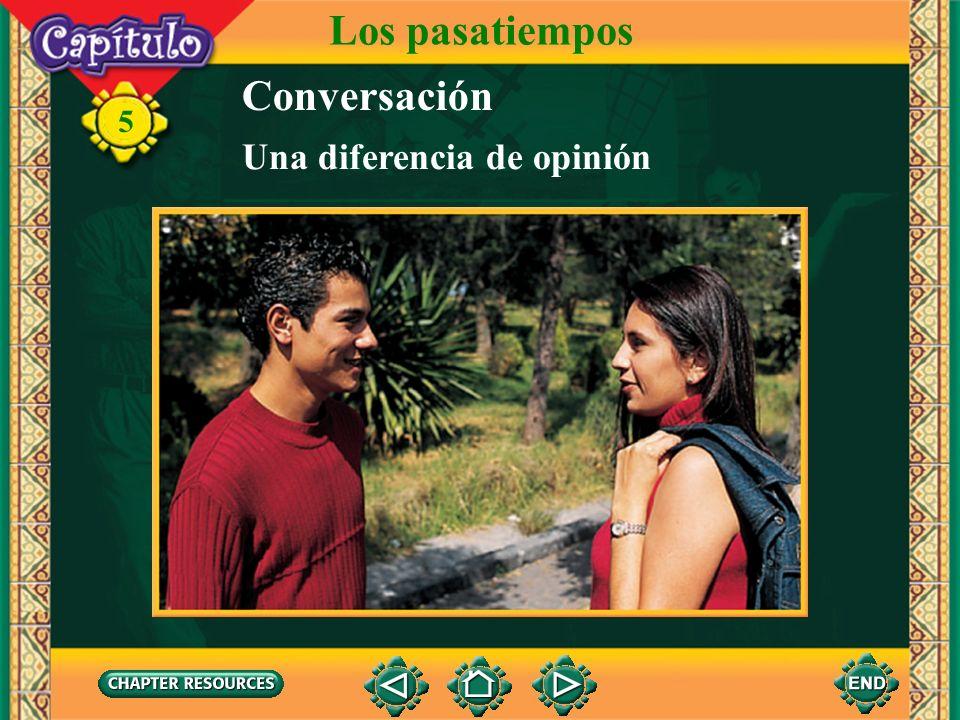 Los pasatiempos Conversación Una diferencia de opinión