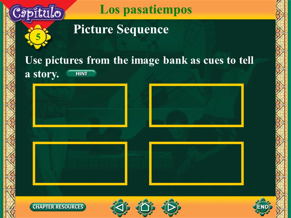 Los pasatiempos Picture Sequence