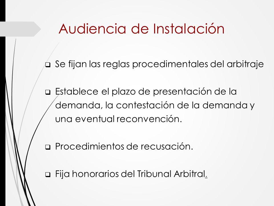 Audiencia de Instalación