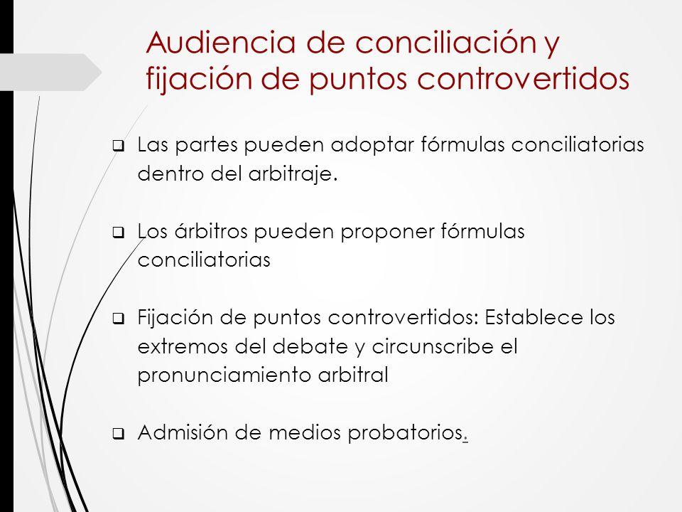 Audiencia de conciliación y fijación de puntos controvertidos