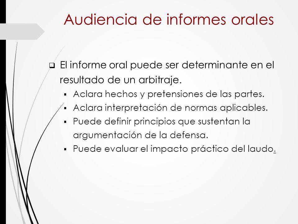 Audiencia de informes orales