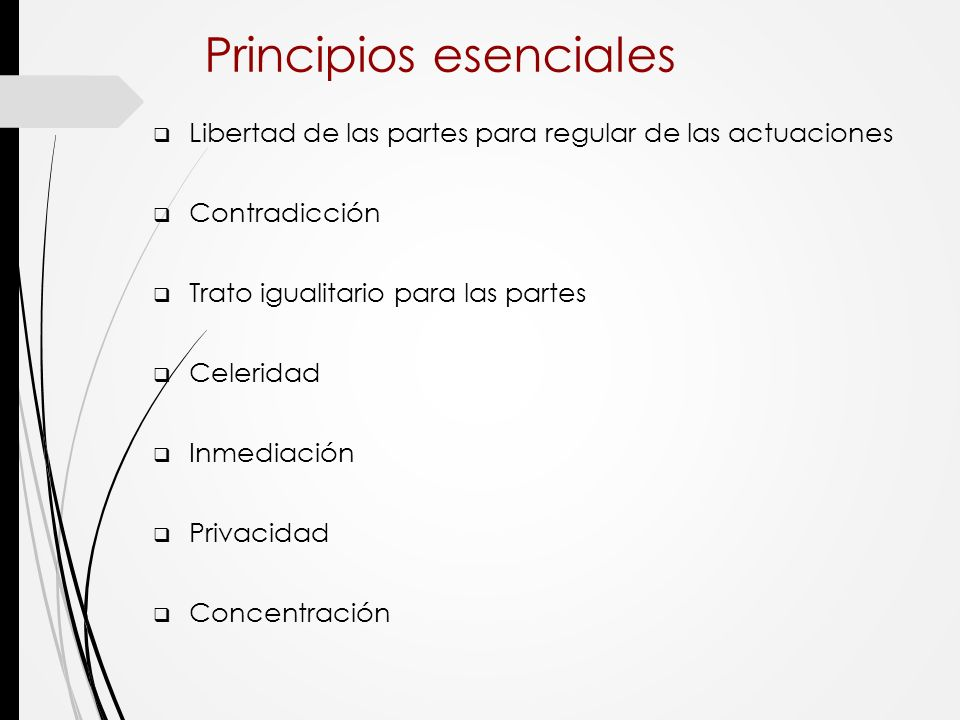 Principios esenciales