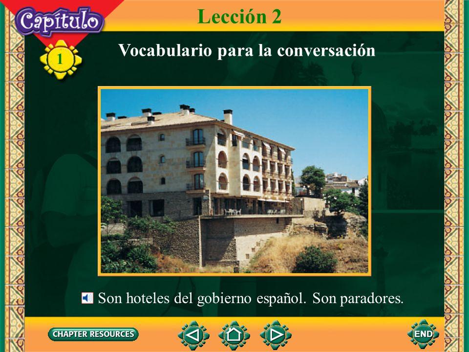 Lección 2 Vocabulario para la conversación