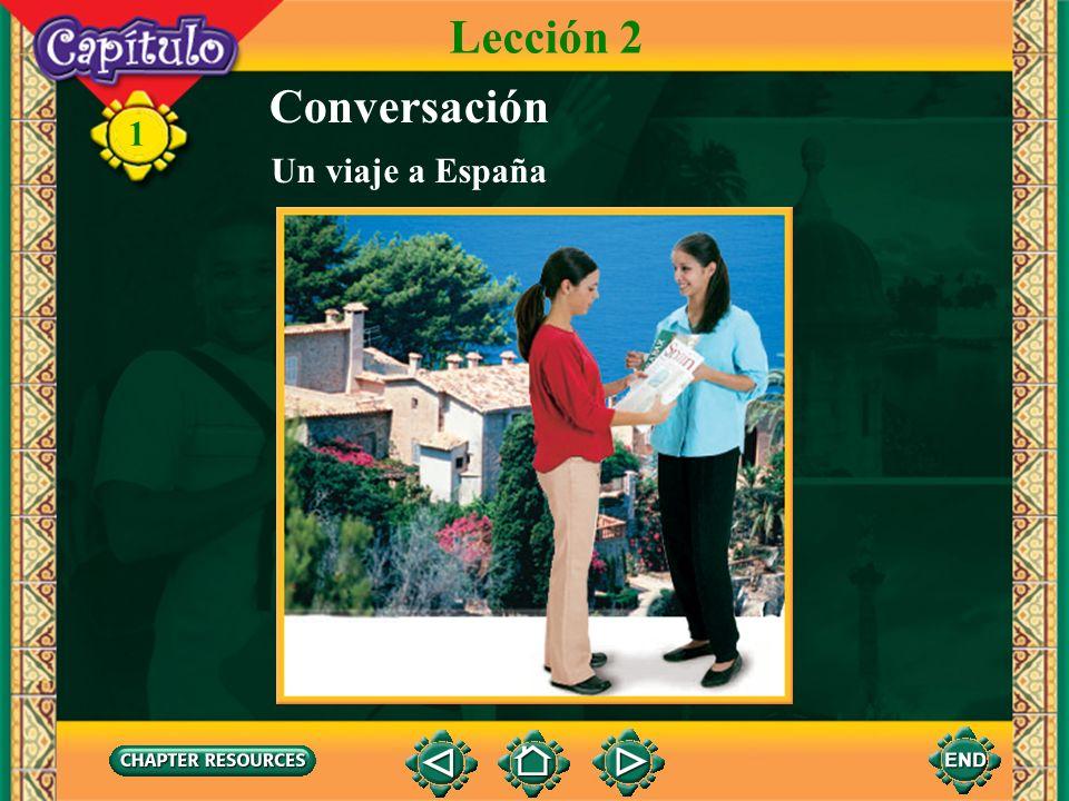 Lección 2 Conversación Un viaje a España