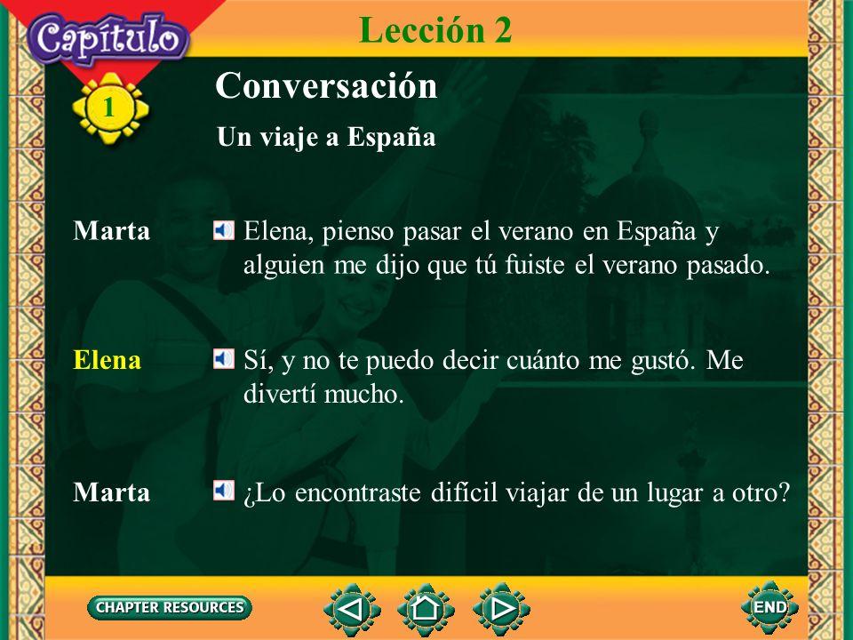 Lección 2 Conversación 1 Un viaje a España