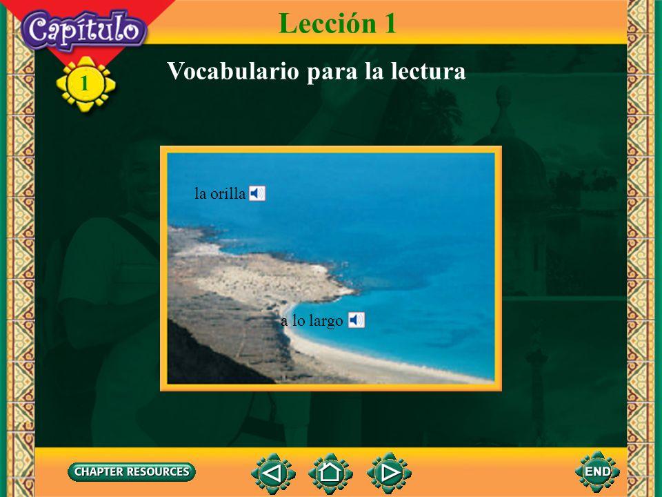 Lección 1 Vocabulario para la lectura la orilla a lo largo
