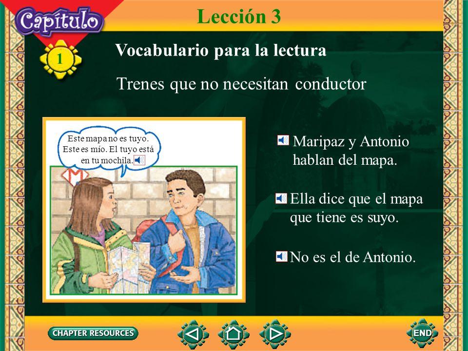 Lección 3 Vocabulario para la lectura