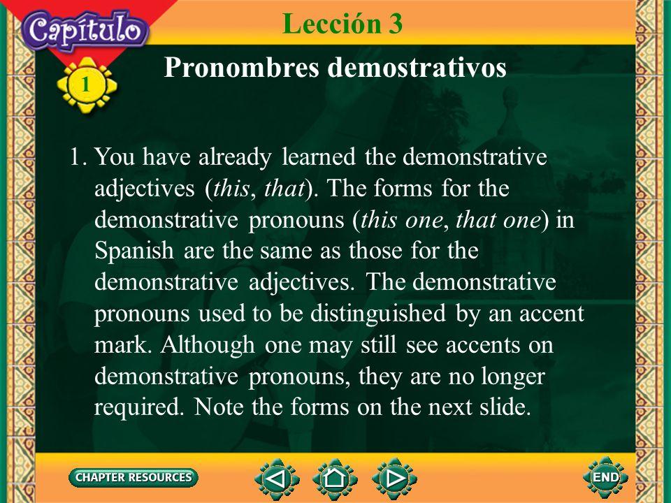 Pronombres demostrativos