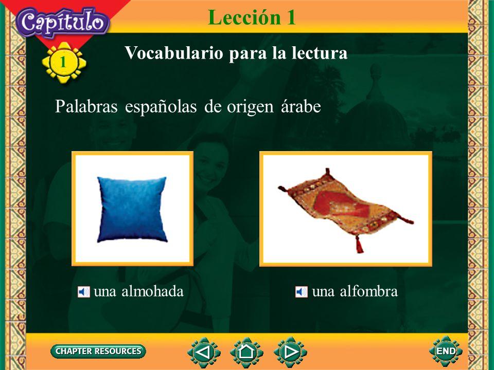 Lección 1 Vocabulario para la lectura